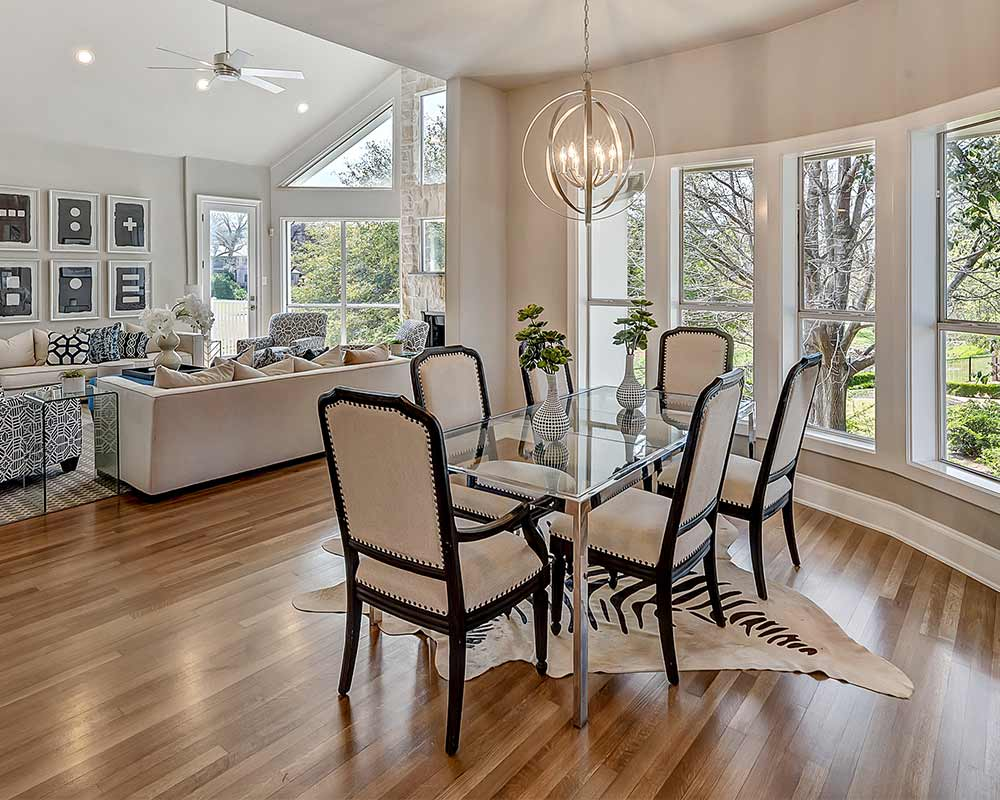 Sharp House Fort Worth Home Staging Dining Room