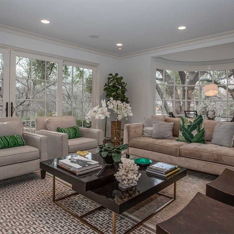Sharp House Fort Worth Home Staging Living Room